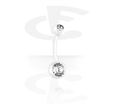 Curved Barbells, Double Jewelled Curved Barbell, Bioflex