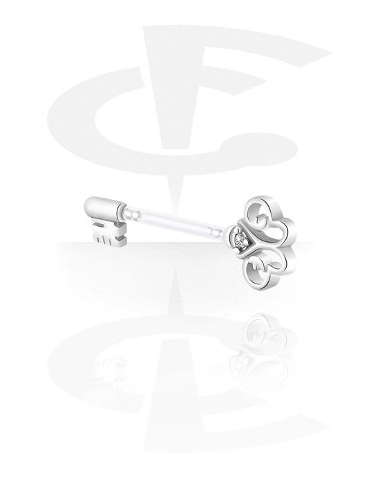 Piercingové šperky do bradavky, Nipple Barbell, Bioflex, Chirurgická ocel 316L