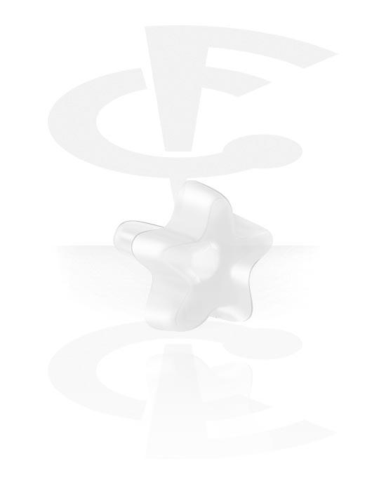 Palloja, nappeja ynnä muuta, Attachment for Bioflex Internal Labrets kanssa star design, Bioflex