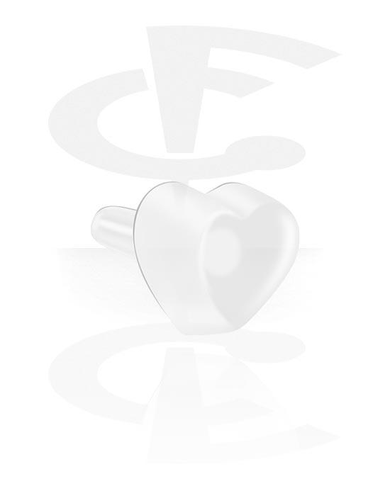 Palloja, nappeja ynnä muuta, Attachment for Bioflex Internal Labrets kanssa Heart Design, Bioflex
