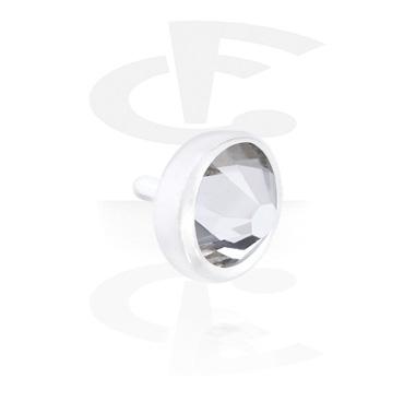 Balls & Replacement Ends, Jeweled Disk for Bioflex Internal Labrets, Bioflex