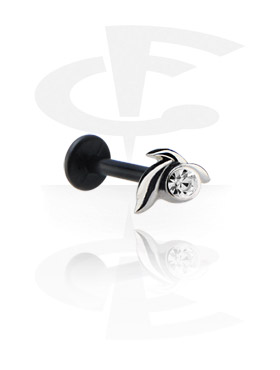 Internal Labret with Jeweled Steel Cast Attachment