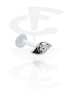 Labret, Internal Labret con Jeweled Steel Cast Attachment, Bioflex