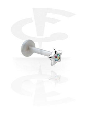 Labrets, Labret with Silver Accessory, Bioflex