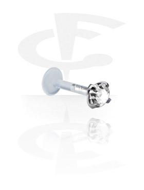 Labret con accesorio de plata