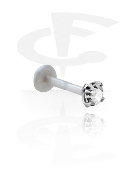 Labrets, Labret with Silver Accessory, Bioflex