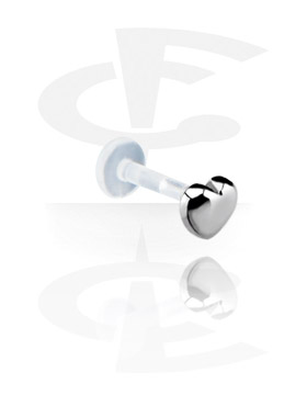 Labrets, Internal Labret avec Steel Cast Attachment, Bioflex