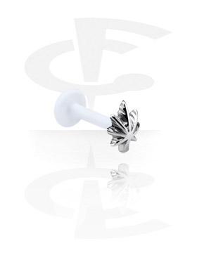 Labretit, Internal Labret with Steel Cast Attachment, Bioflex