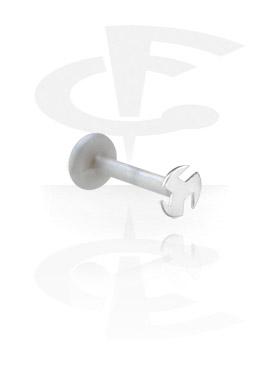 Labretit, Internal Labret with Plain Silver Stud, Bioflex