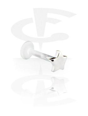Labret con accessorio in argento