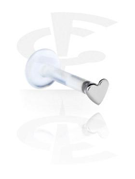 Labrets, Internal Labret with Titanium Attachment, Bioflex