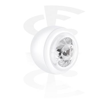 Palline e Accessori, Push Fit External Jeweled Balls, Bioflex