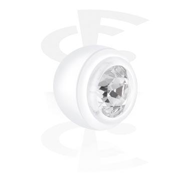 Balls & Replacement Ends, Push Fit External Jeweled Balls, Bioflex