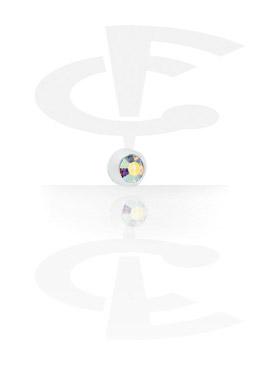 """Bola con cristal """"Push Fit"""" para roscas de 1,2 mm"""