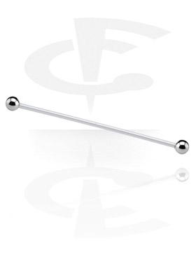 Barbells, Barbell mit Titan-Kugeln, Bioflex ,  Chirurgenstahl 316L