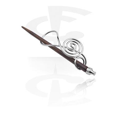 Akcesoria do włosów, Hair Slide, Plated Brass, Wood