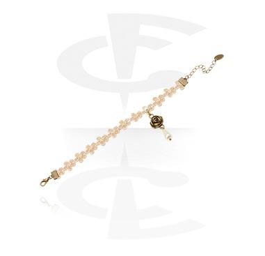 Bracelets de Cheville, Bracelet de cheville de style vintage, Métal, Tissu