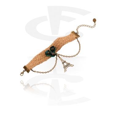 Náramky, Vintage Bracelet, Metal, Fabric