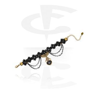 Bransolety, Vintage Bracelet, Metal, Fabric
