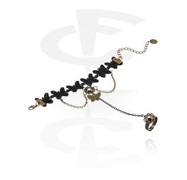 Bracelets, Bracelet de style vintage, Métal, Tissu