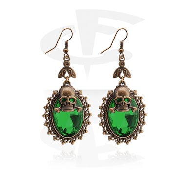 Náušnice, Earrings, Surgical Steel 316L, Plated Brass