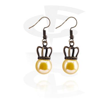 Kolczyki, Earrings, Surgical Steel 316L, Plated Brass