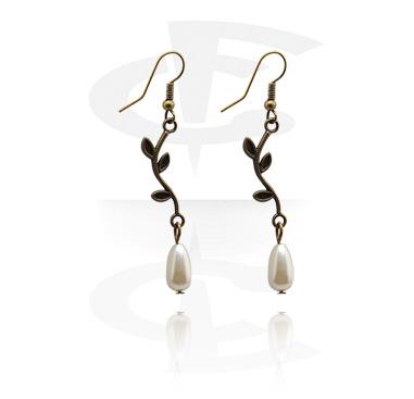 Kolczyki, Earrings, Plated Brass