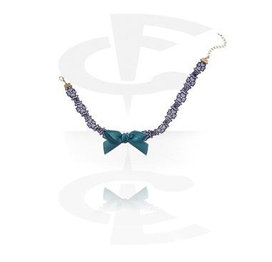 Necklaces, Vintage Necklace, Metal, Fabric