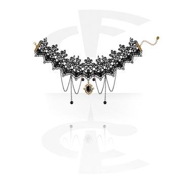 Necklaces, Vintage Necklace, Lace, Zinc Alloy