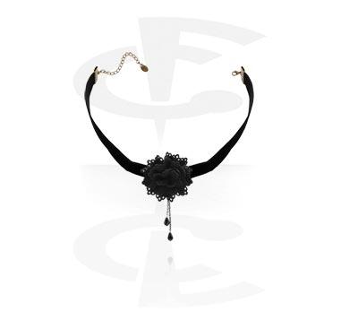 Náhrdelníky, Vintage Necklace, Metal, Fabric