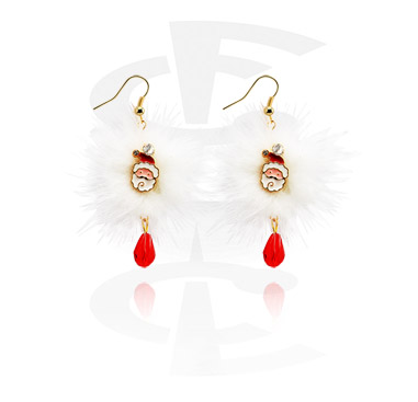 Earrings with Christmas Design