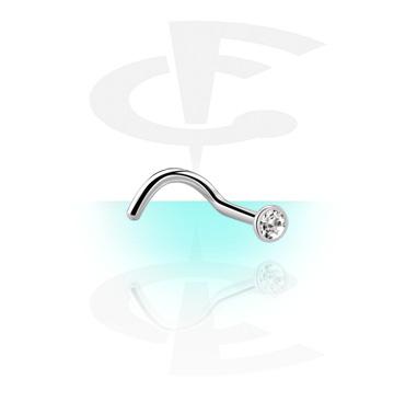 Steriilit korut, Sterile Regular Curved Nose Stud, Surgical Steel 316L