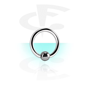 Стерильное кольцо с застежкой - шариком из гематита