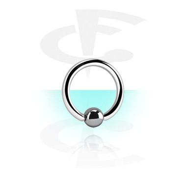 Sterilizirani nakit za piercing, Sterilna alkica s kuglicom od hematita, Titanium