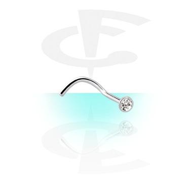 Sterilizirani nakit za piercing, Sterile Regular Curved Nose Stud, Titanium