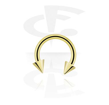 Circular Barbells, Circular Barbell mit Cones, Zirkon Stahl