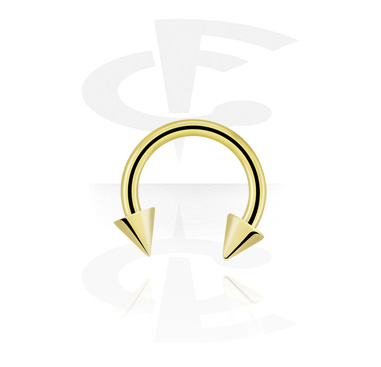 Circular Barbells, Circular Barbell with Cones, Zirkon Steel