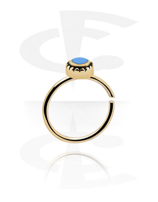 Piercing ad anello, Continuous ring, Acciaio e zirconio, Acciaio chirurgico 316L
