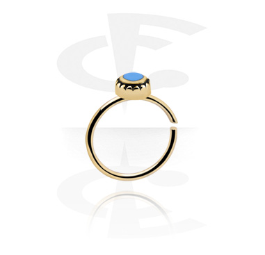Piercing Rings, Black Tunnel, Zircon Steel, Surgical Steel 316L