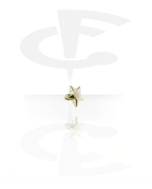 Bolas y Accesorios, Star de Internally Threaded Pins, Zircon Steel