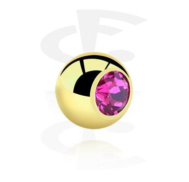 Palline e Accessori, Jeweled Ball, Zirkon Steel