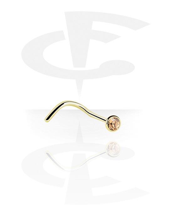 Nose Jewelry & Septums, Jewelled Nose Screw, Zirkon Steel