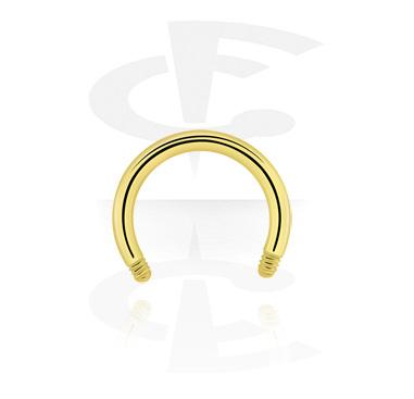 Hevosenkengät, Micro Circular Barbell Pin, Zirkon Steel