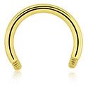 Circular Barbells, Micro Circular Barbell Pin, Zirkon Steel