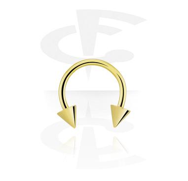 Circular Barbells, Micro Circular Barbell with Cones, Zirkon Steel