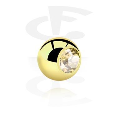 Boules et Accessoires, Boule strass de 1.2 mm, Zirkon Steel