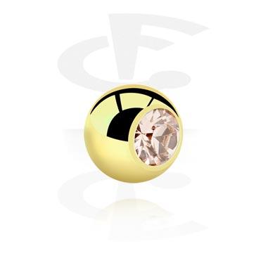 Balls & Replacement Ends, Jewelled Ball, Zirkon Steel