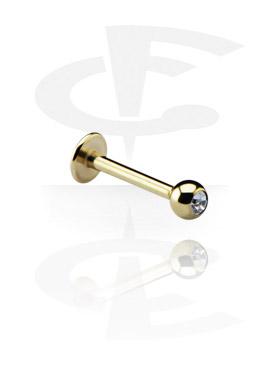 Labret, Jeweled Micro Labret, Zirkon Steel