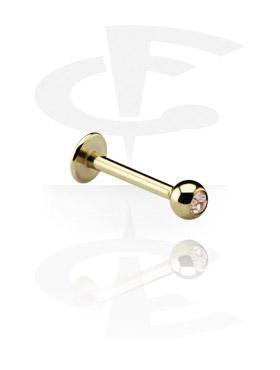 Labrets, Jeweled Micro Labret, Zirkon Steel