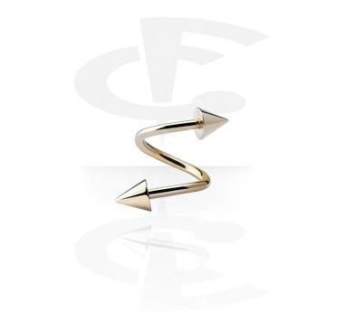 Spiralen, Spiral-Stab mit Cones, Zirkon Stahl